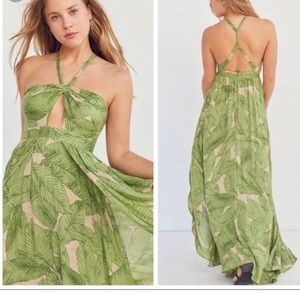 Urban Outfitters Kimchi Blue Tropical Palm Maxi